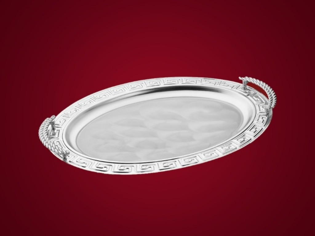2226 / 1G Pattern Oval Handled Tray Small
